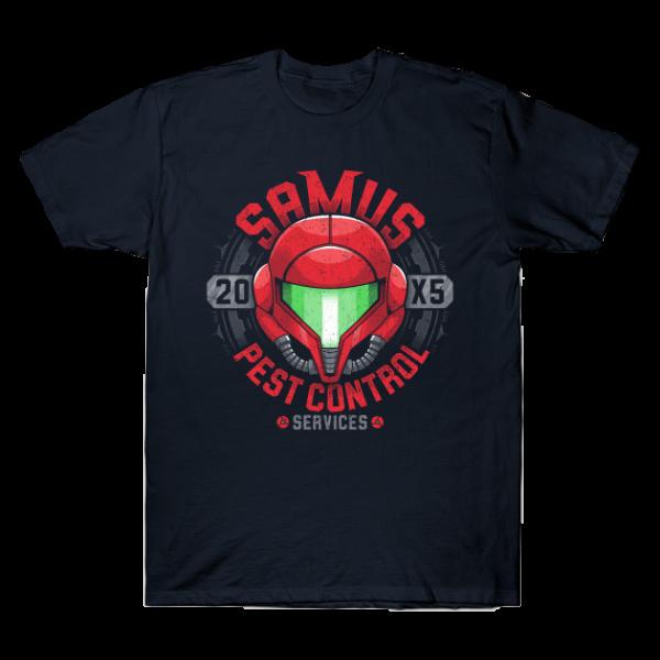 Samus Pest Control blau - T-Shirt