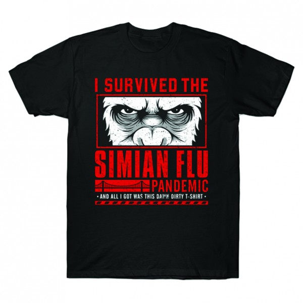 Survived Simian Flu - Planet der Affen - Mash Up T-Shirt Herren