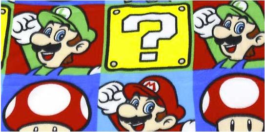 Nintendo - Super Mario Fleecedecke