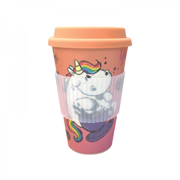 Pummeleinhorn Bambus Mug - Kaffee-O-Meter